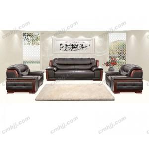 K-03 办公沙发 皮革沙发 双靠背