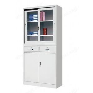 中二屉移门柜 玻门柜 文件柜