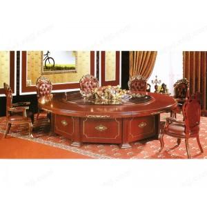 餐桌 豪华实木桌 酒店大圆桌