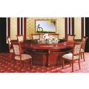 餐桌 酒店餐台 豪华实木圆桌