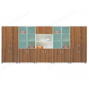 木制书柜 办公文件柜玻璃书柜板式