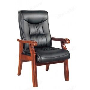 实木会议椅 牛皮班前椅 真皮老板椅