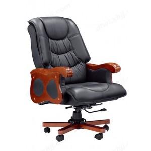 老板椅 家用四脚办公椅 实木椅子