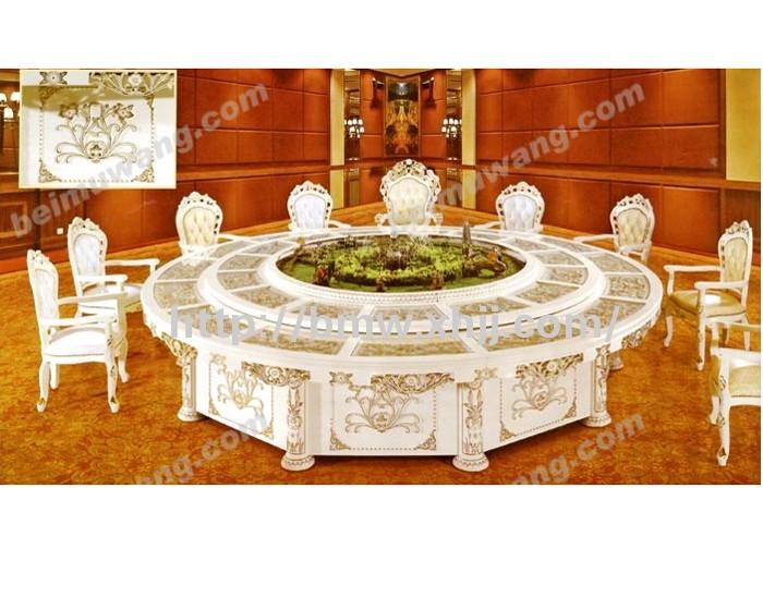 豪华餐桌(实木雕刻)-061#