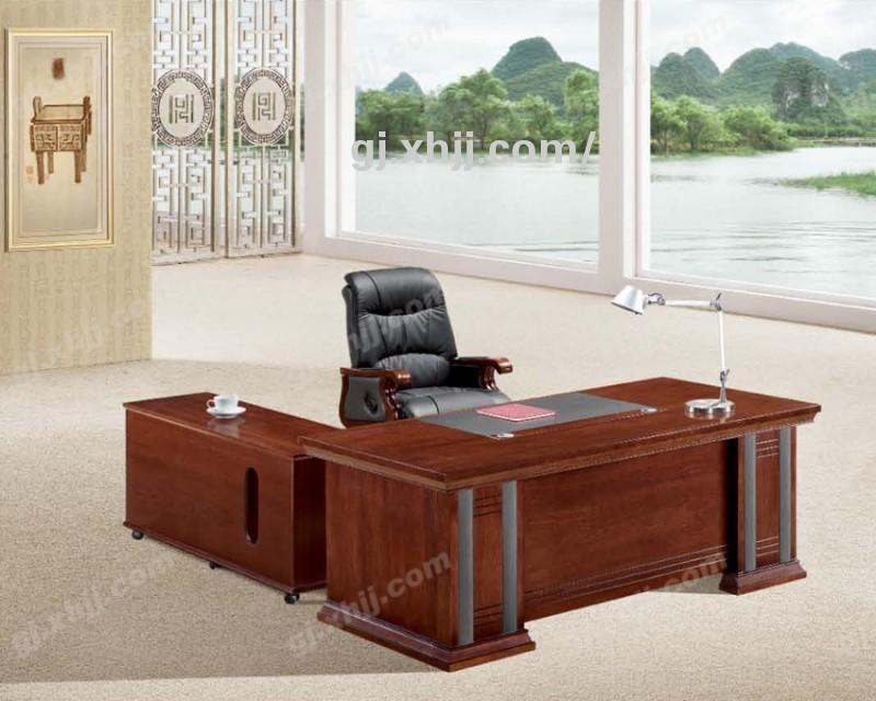 中式实木办公家具香河中式班台如意系列全实木办公班台 产品图片 香河国景