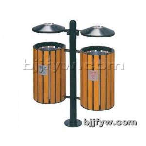 钢木垃圾桶 小区分类环保垃圾箱