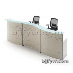 弧形办公接待桌 咨询台 前台