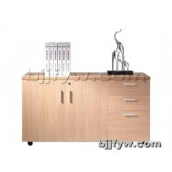 可移动矮柜 木制书柜 带锁小柜