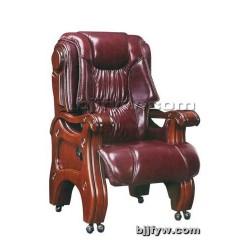 实木四角大班椅 真皮老板椅