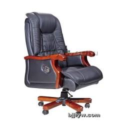 现代真皮班椅 实木转椅 老板椅