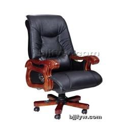 现代老板办公椅 实木班椅