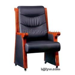 北京实木会议椅 真皮会客椅
