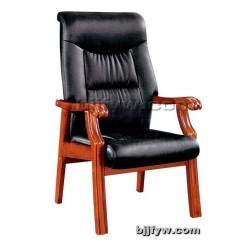 现代实木座椅 真皮会议椅