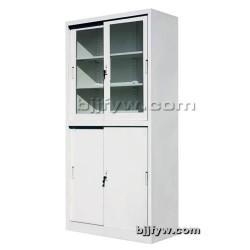 北京文件柜 玻门柜 上玻下铁移门柜