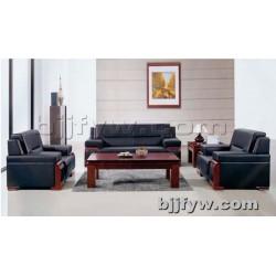 北京 商务接待会客厅简约真皮三人位单人位办公沙发