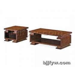北京 中式茶桌 实木长方形小矮桌 双层办公功夫茶几