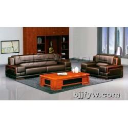 北京 现代简约牛皮真皮 会客厅商务接待区沙发三人位