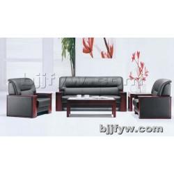 北京 皮质办公沙 发简约现代办公商务会客室接待沙发