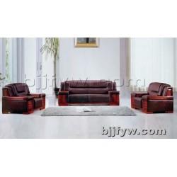 北京君发永旺 中式实木办公沙发 商务会客区接待室沙发