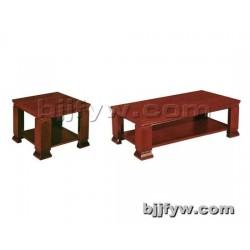 北京 简约时尚办公茶几 实木办公茶几 木质双层