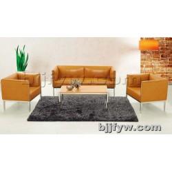 北京 休闲洽谈沙发 办公沙发 简约商务会客沙发 真皮组合沙发
