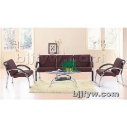 北京 简约休闲办公室三人沙发 西皮艺商务客厅沙发