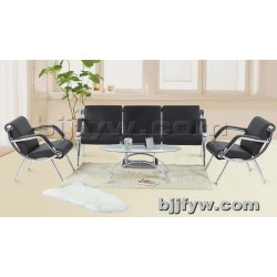 北京 休闲办公沙发 简约现代商务会客不锈钢架沙发