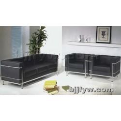 北京 不锈钢钢架沙发 休闲沙发牛皮真皮办公高档沙发