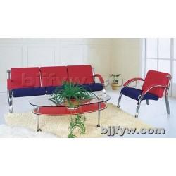 北京 钢制排椅沙发 简约办公沙发 三人位排椅休闲皮沙发