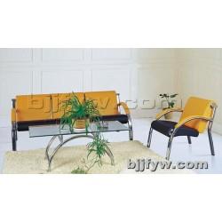 北京君发永旺 现代休闲办公沙发不锈钢架简易拆装沙发