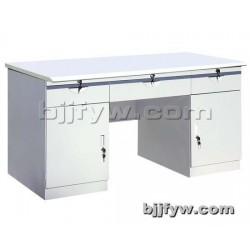 钢制办公桌 职员办公桌 带锁带抽屉