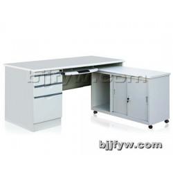 钢制电脑桌 办公桌 带柜职员桌