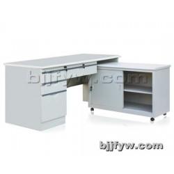 员工办公桌 钢制桌 带柜电脑桌