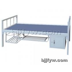 北京 单层铁床 学生员工宿舍钢制单人床 工地部队床