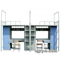 北京 公寓床 学生床 宿舍上下铺铁艺床 上床下桌组合高架铁床