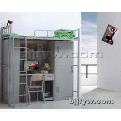 北京 上床下桌 学生公寓床 宿舍带书桌 柜子员工高低铁床