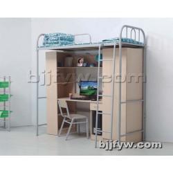 北京 宿舍公寓床 带衣柜 书架上下铺床 厂家直销