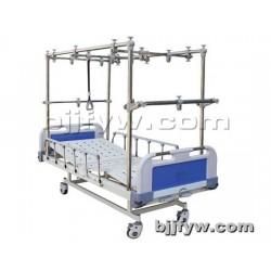 北京 塑钢床头带轮牵引床 三摇护理床多功能康复训练翻身床