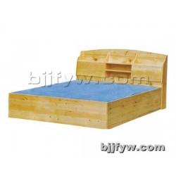 北京 实木床 简约现代储物高箱床 单双人床