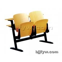 北京 阶梯教室课桌椅 大教室课桌椅桌子(钢靠背课桌椅)