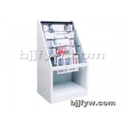 十格报纸斜挂柜 钢制书架单面波浪图书架