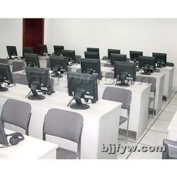 北京君发永旺 台式双人电脑桌 学校多媒体教室培训桌