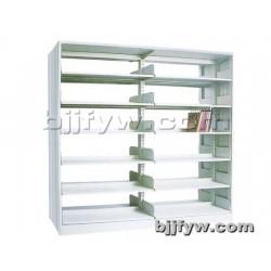 北京 两联单柱钢护板书架 钢制书架 单面双面书架