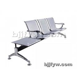 北京君发永旺 三人位全不锈钢排椅 机场连体座椅 银行等候椅