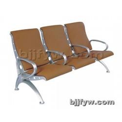 北京 高背PU全包皮垫 等候椅 铝合金机场椅 排椅三人位椅