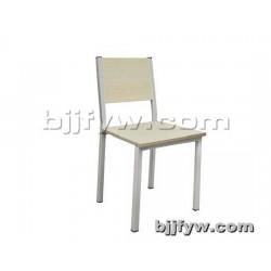 北京 简易钢木椅子 简约靠背餐椅 饭店椅子