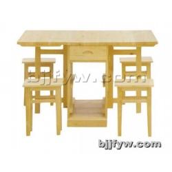 北京 实木桌 小户型实木家用可储物长方形餐桌椅组合