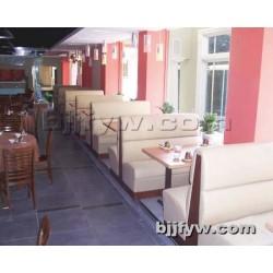 北京君发永旺 西餐厅沙发卡座 奶茶店甜品店沙发桌椅组合