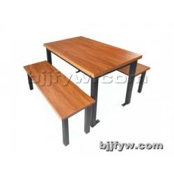 北京饭店快餐桌椅 食堂连体桌椅 餐厅面馆四人连体桌椅