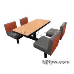 北京 员工快餐桌椅四人位餐桌 饭店食堂餐桌户外连体餐桌椅